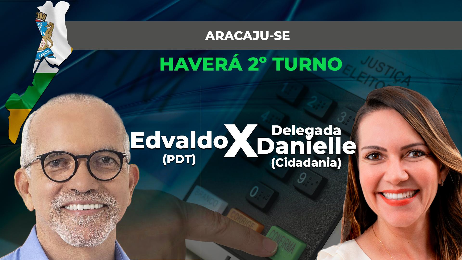 IMAGEM: Ibope em Aracaju: Edvaldo Nogueira, 64%; Delegada Danielle, 36%