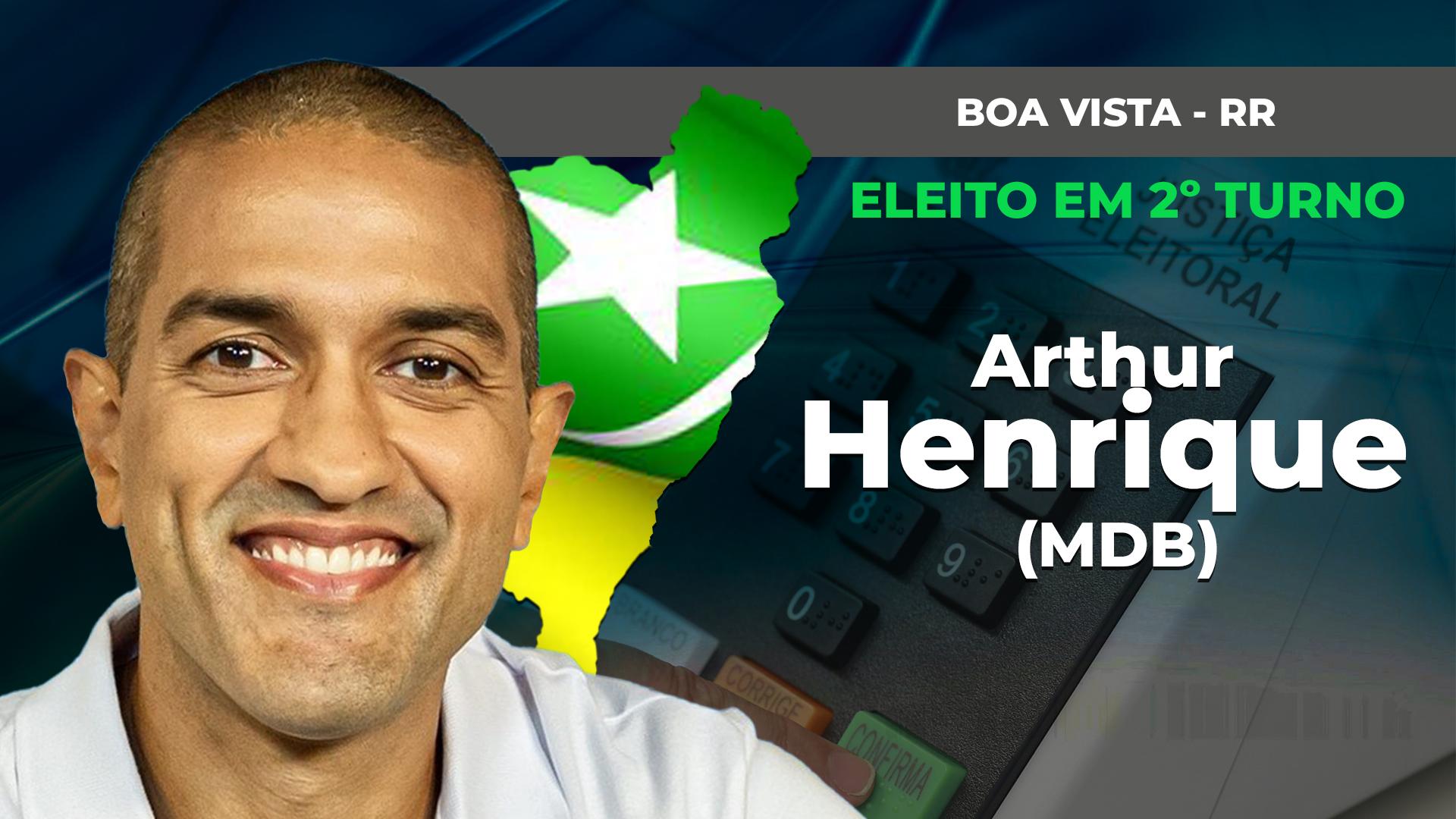 IMAGEM: BOA VISTA: ARTHUR HENRIQUE É ELEITO