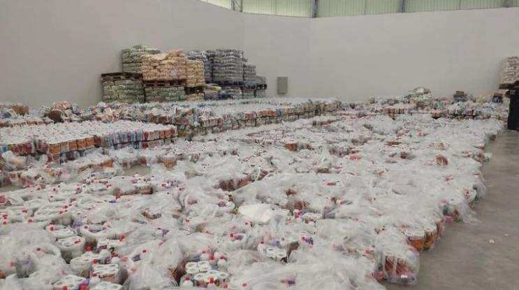 IMAGEM: PF apreende 10 mil cestas básicas que seriam usadas para compra de votos