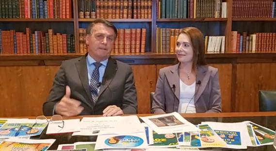 """IMAGEM: """"Certificada pela Anvisa, o governo vai comprar a vacina"""", diz Bolsonaro"""