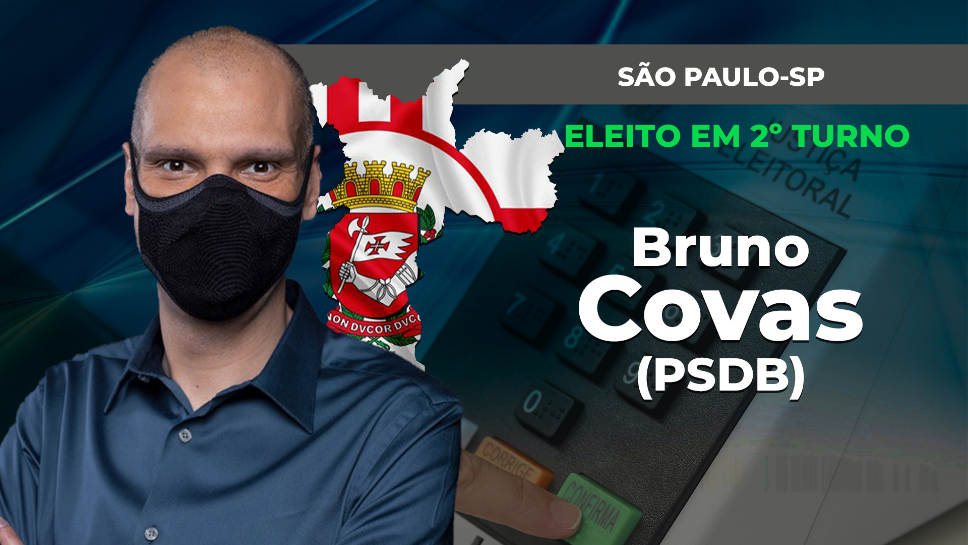 IMAGEM: BRUNO COVAS É REELEITO EM SÃO PAULO