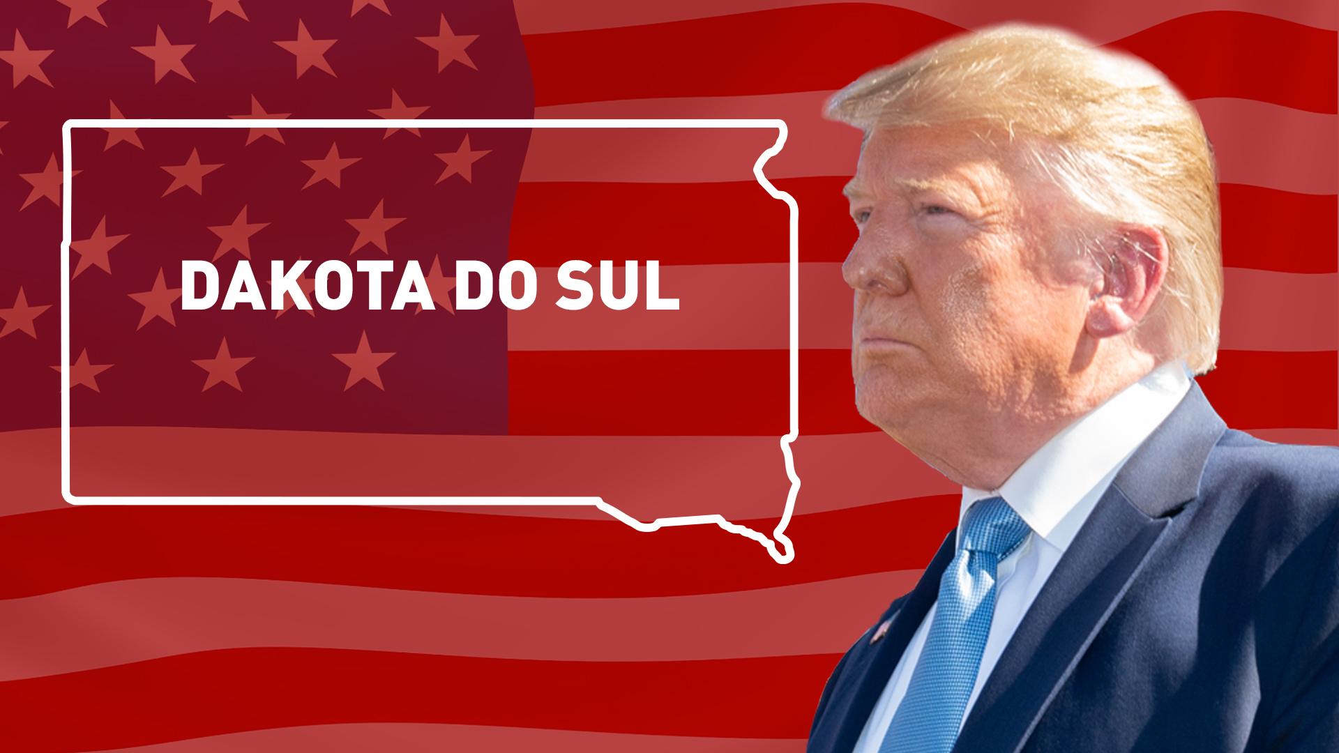 IMAGEM: Donald Trump vence na Dakota do Sul
