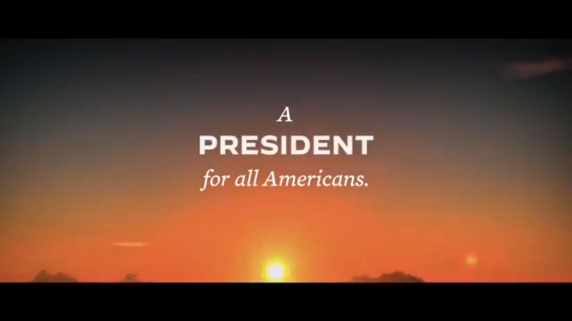 """IMAGEM: """"Um presidente para todos os americanos"""""""