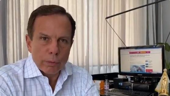 IMAGEM: Em vídeo, Doria pede 'desculpas' por viagem a Miami