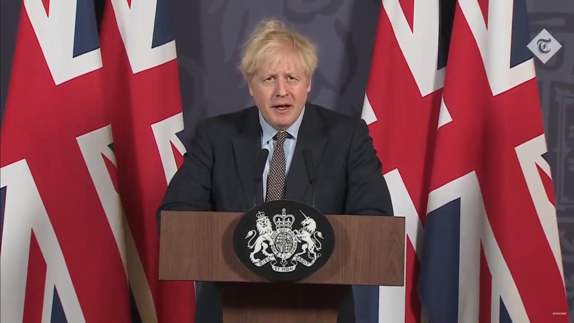 """IMAGEM: Johnson: """"Retomamos o controle sobre nossas leis e nosso destino"""""""