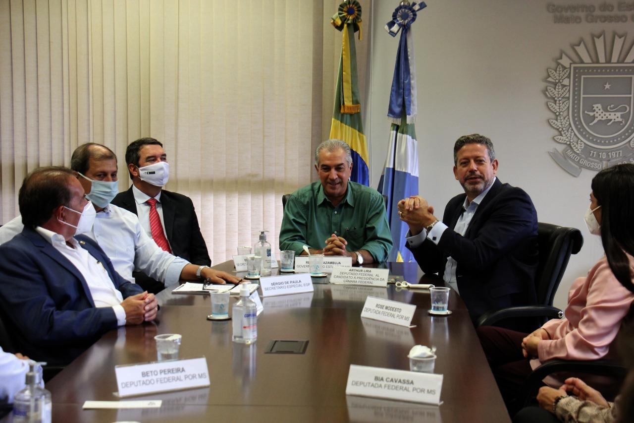 IMAGEM: Lira é recebido por governador do PSDB