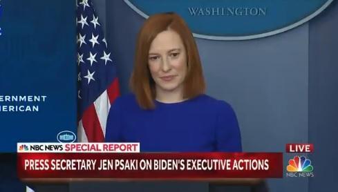 IMAGEM: Porta-voz de Biden dá sua primeira entrevista coletiva