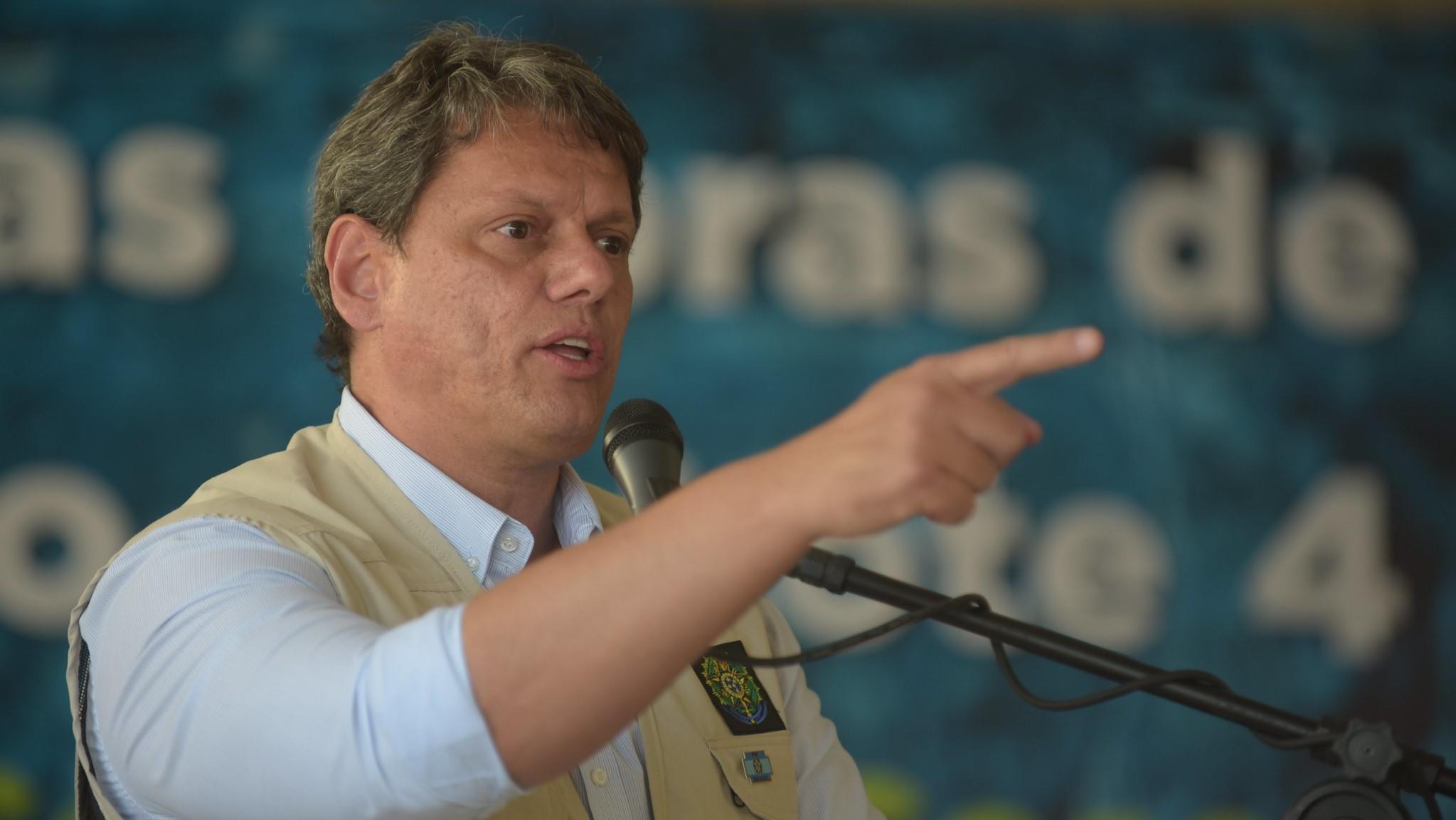 IMAGEM: Tarcísio diz que é preciso 'afastar narrativa errada' sobre política ambiental