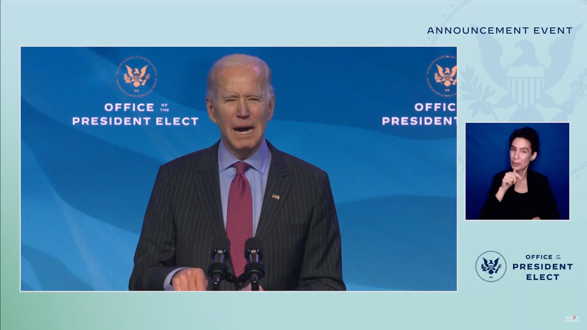 IMAGEM: Biden anuncia mais integrantes da equipe econômica