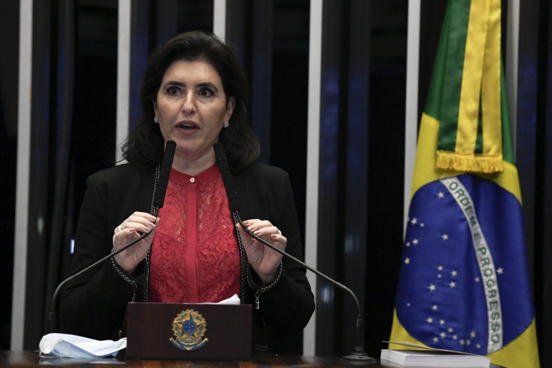 """IMAGEM: Simone Tebet: imunidade parlamentar """"não existe para acobertar crimes"""""""