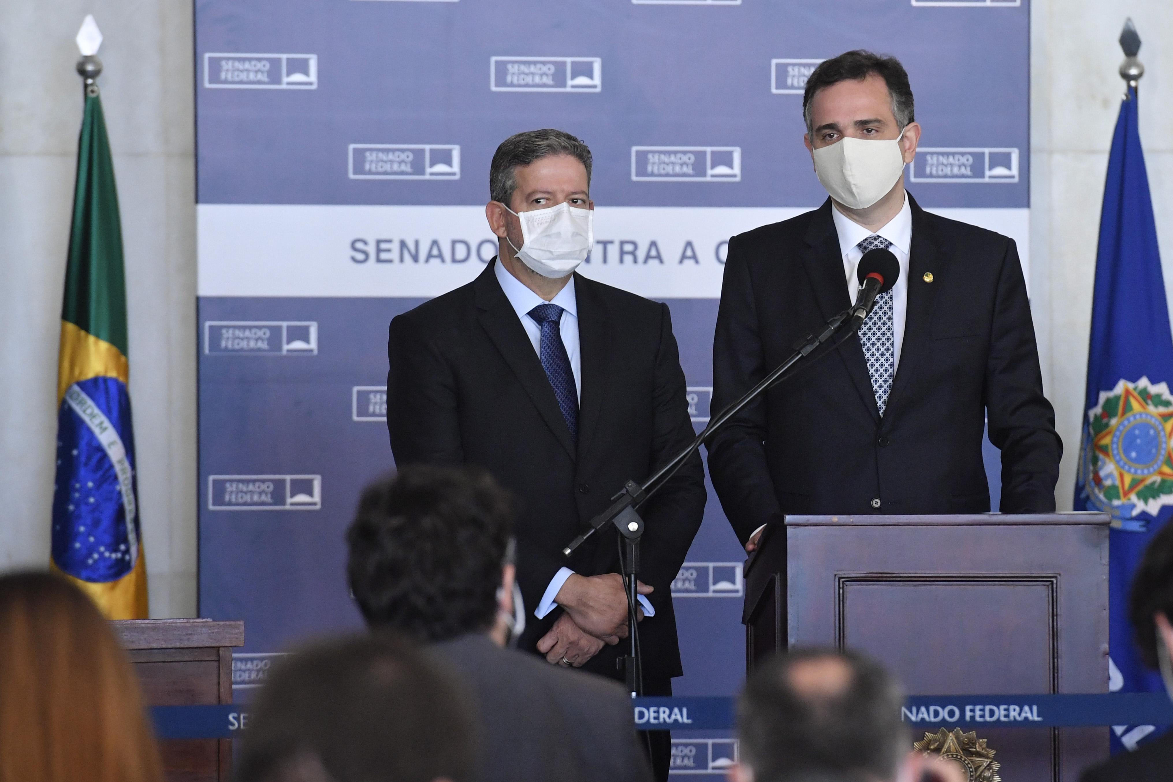 IMAGEM: Lira e Pacheco dizem que reforma administrativa pode ser aprovada em quatro meses