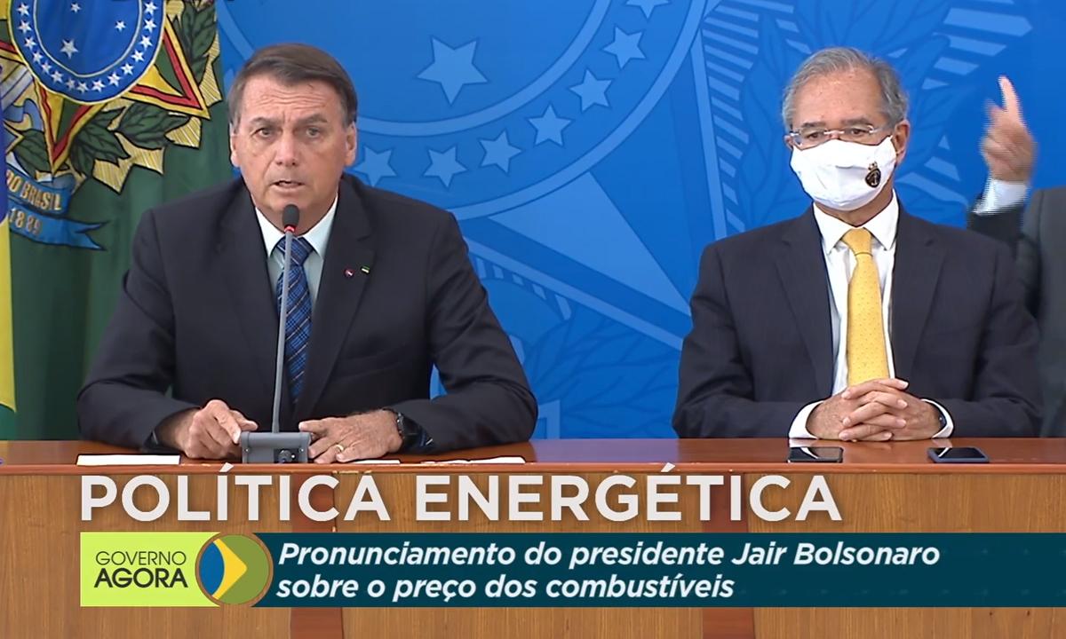 IMAGEM: Bolsonaro afirma que vai zerar tributos no diesel e gás de cozinha