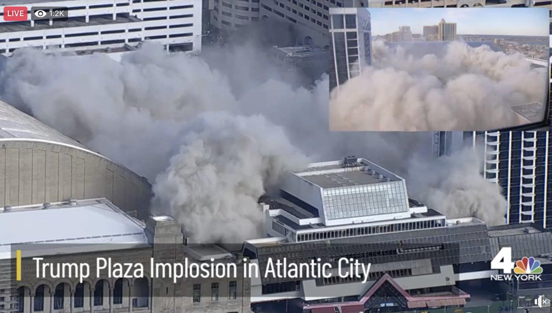 IMAGEM: Prédio que abrigou cassino de Trump em Atlantic City é demolido