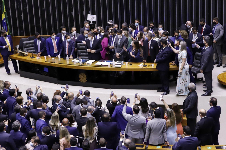 IMAGEM: O pai dos Bolsonaro tchutchucas é o Centrão e a mãe é a Joana