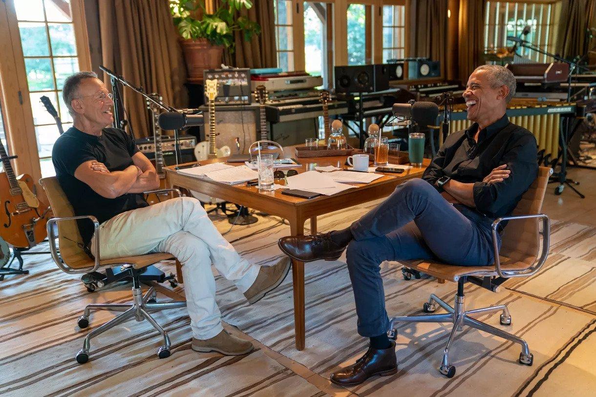 IMAGEM: Obama e Bruce Springsteen lançam podcast