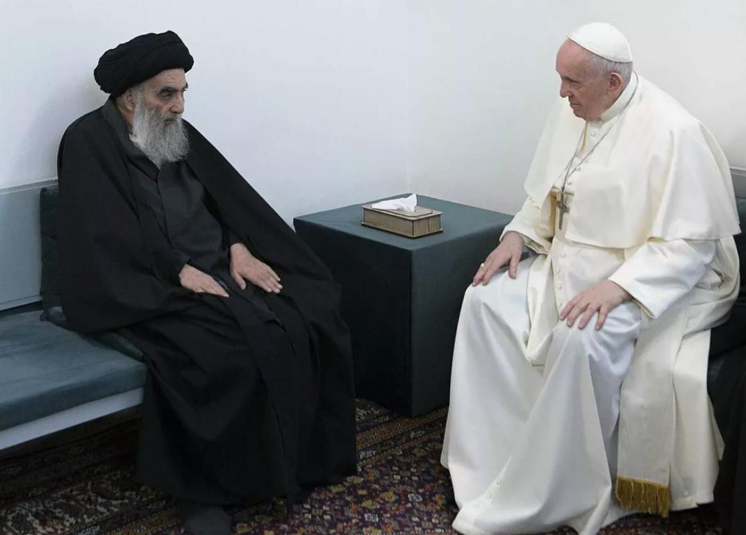 IMAGEM: No Iraque, papa Francisco tem encontro com aiatolá Ali al-Sistani