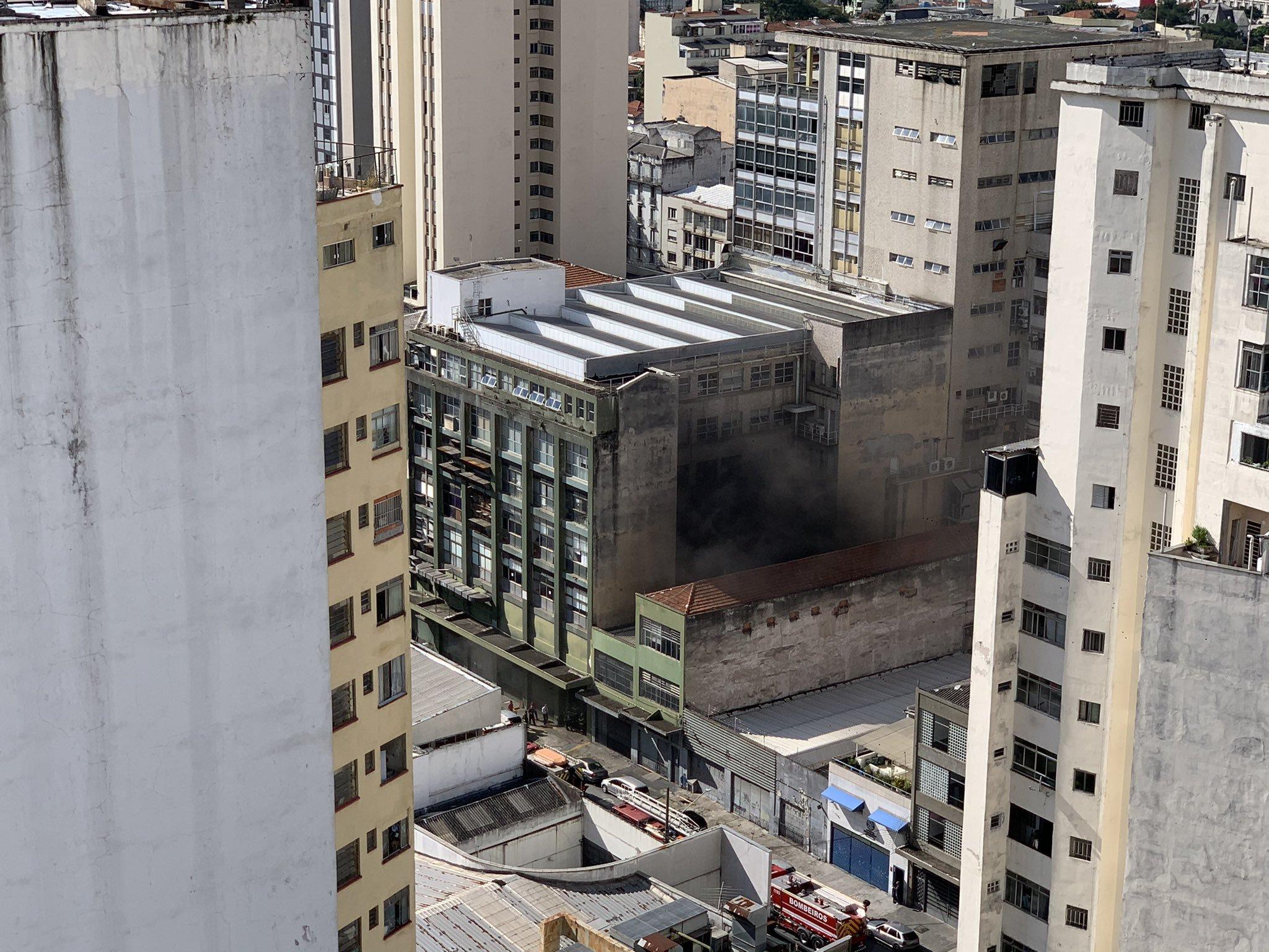 IMAGEM: Princípio de incêndio na Folha é controlado