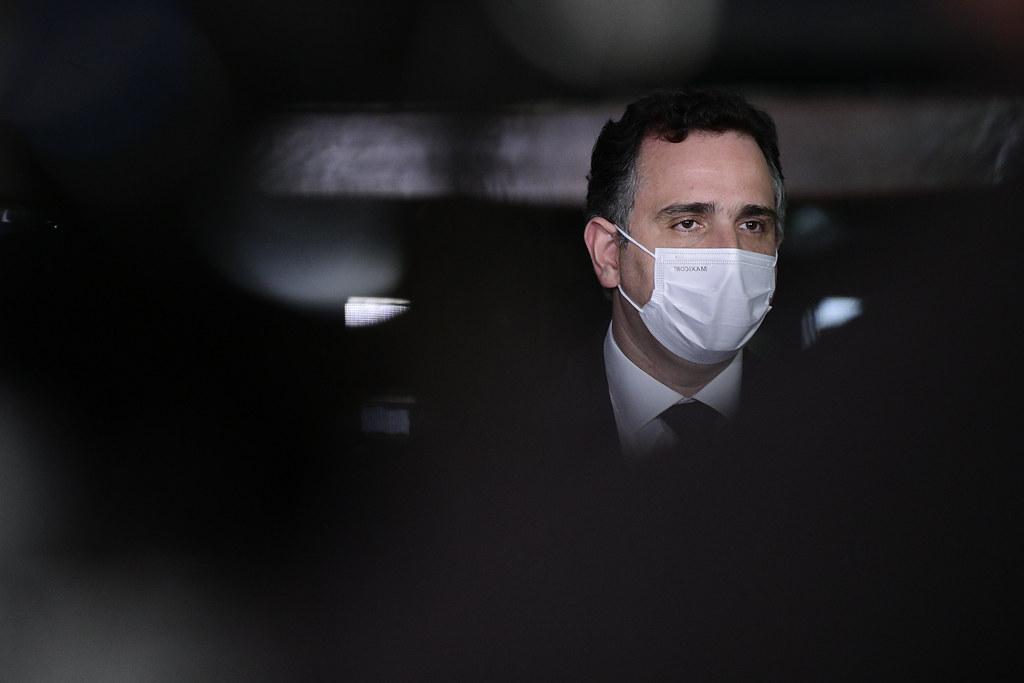 IMAGEM: 'Senado não é lugar de brincadeira', diz Pacheco sobre gesto de Filipe Martins
