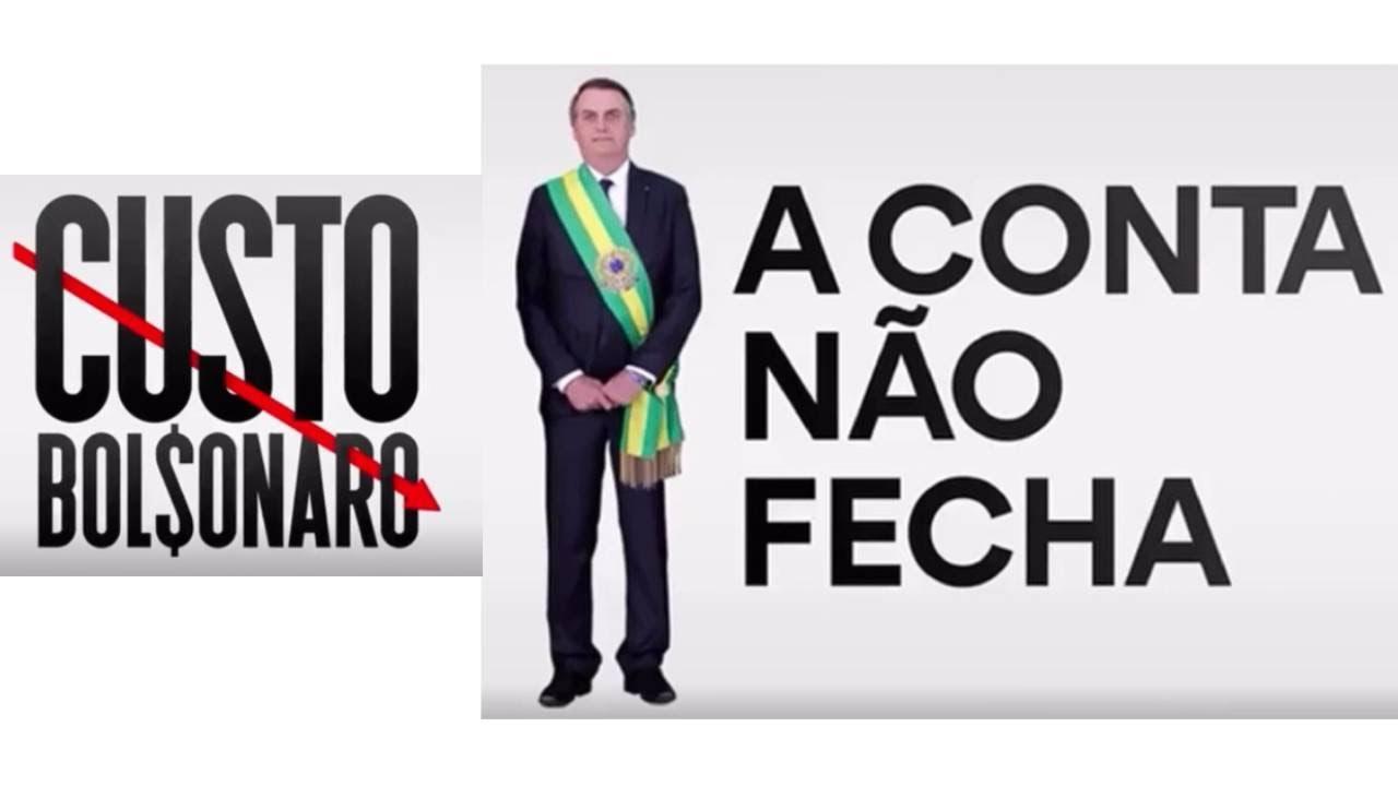 IMAGEM: Vídeo 'Custo Bolsonaro' tem alta da gasolina, falta de vacinas e Queiroz