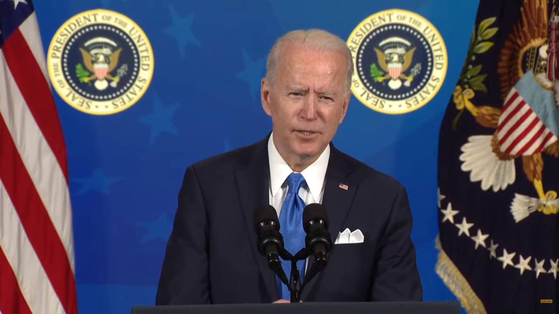 IMAGEM: Biden finalmente marca sua 1ª coletiva como presidente