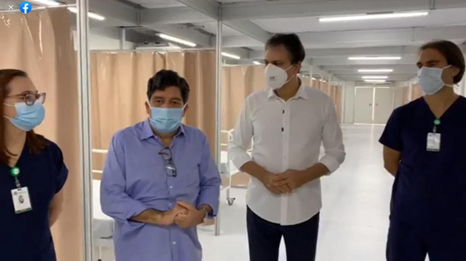 """IMAGEM: """"Todos os hospitais privados de Fortaleza estão em colapso"""", diz secretário"""