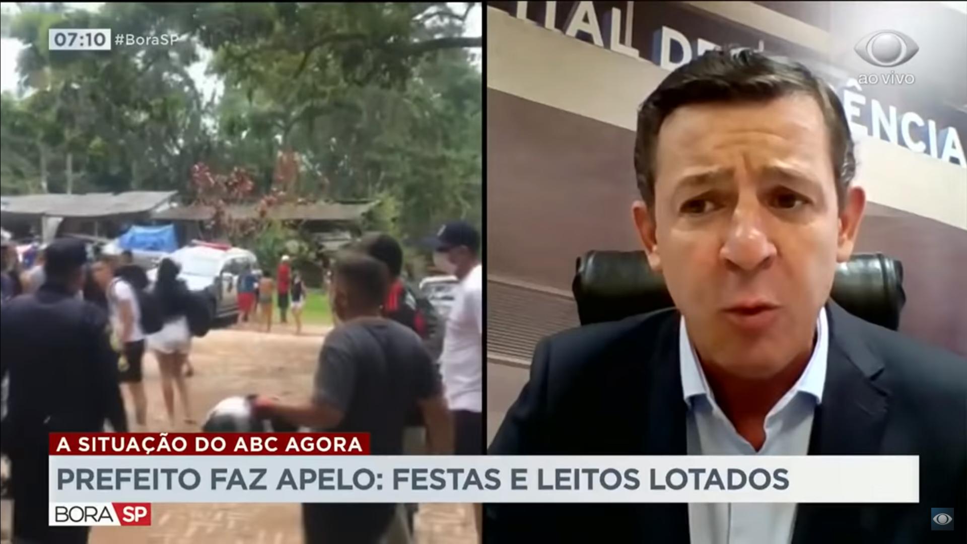"""IMAGEM: """"É um bando de vagabundo sem-vergonha"""", diz prefeito de São Bernardo sobre festas clandestinas"""