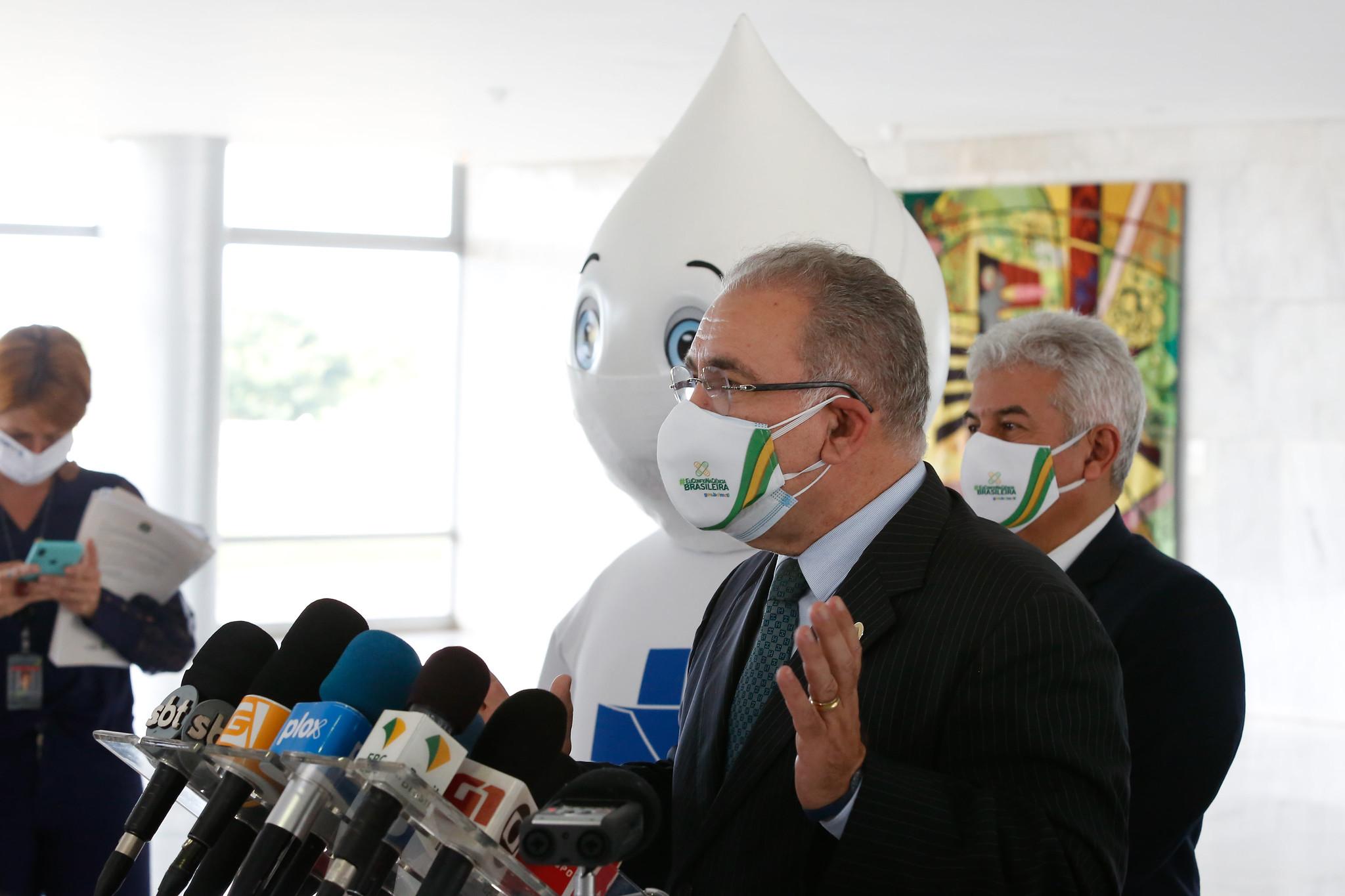 IMAGEM: 'Fica com essa coisa de contar doses de vacina', diz Marcelo Queiroga, sobre atrasos na vacinação