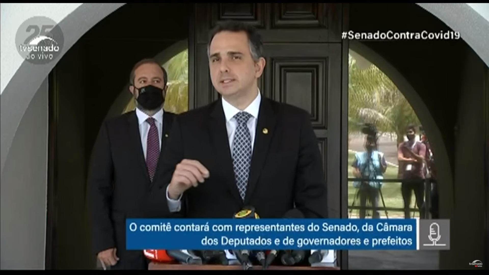 IMAGEM: Pacheco: questão dos remédios do kit intubação precisa ser resolvida 'imediatamente'