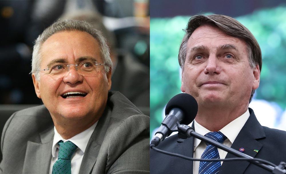 IMAGEM: Bolsonaro reage à possível convocação de Carluxo e cobra Renanzinho na CPI
