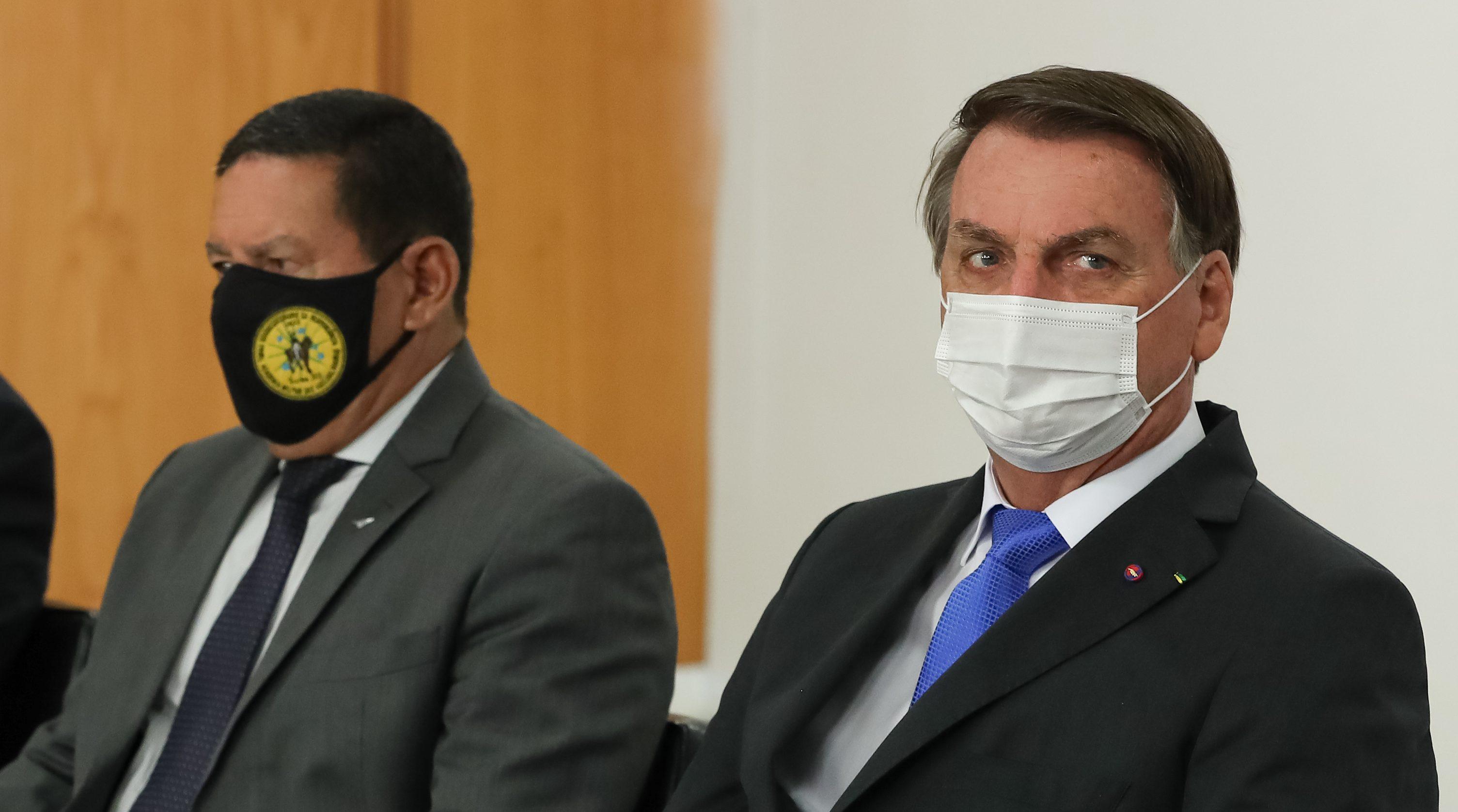 IMAGEM: Bolsonaro e Mourão não irão à abertura dos Jogos de Tóquio