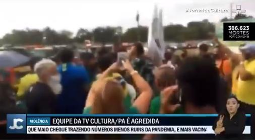 IMAGEM: Equipe da TV Cultura é agredida por bolsonaristas em Belém