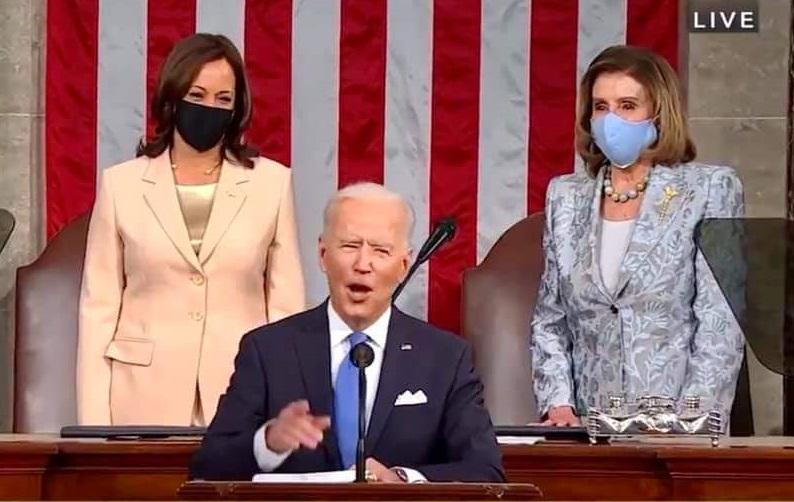 IMAGEM: Em 1º discurso no Congresso, Biden diz que herdou uma 'nação em crise'