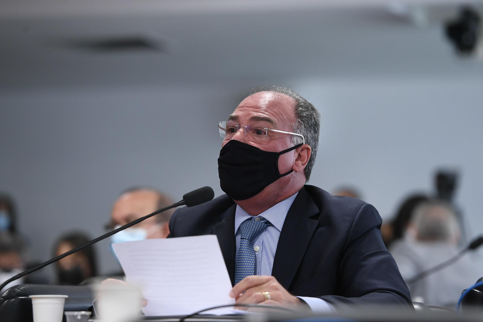 """IMAGEM: """"Governo não receia absolutamente nada"""", diz Bezerra na CPI da Covid"""