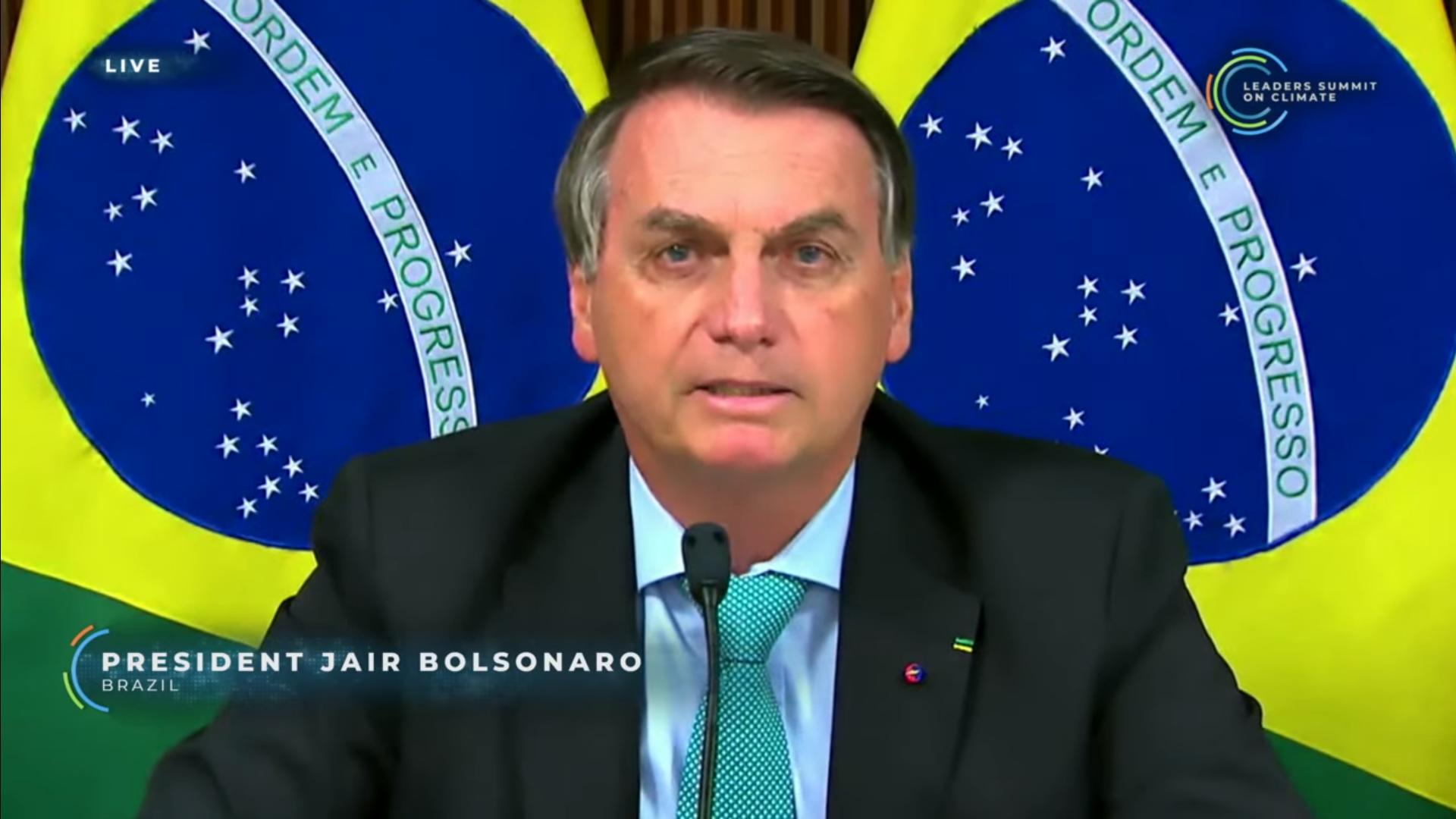 IMAGEM: Bolsonaro antecipa meta de zerar emissões até 2050, mas não resolve 'pedalada do carbono'