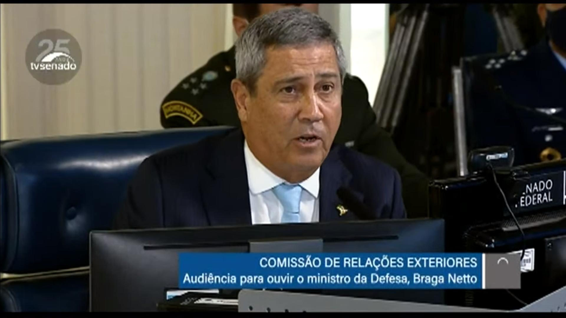 IMAGEM: Braga Netto diz que militares só agirão para apoiar quarentenas se houver GLO