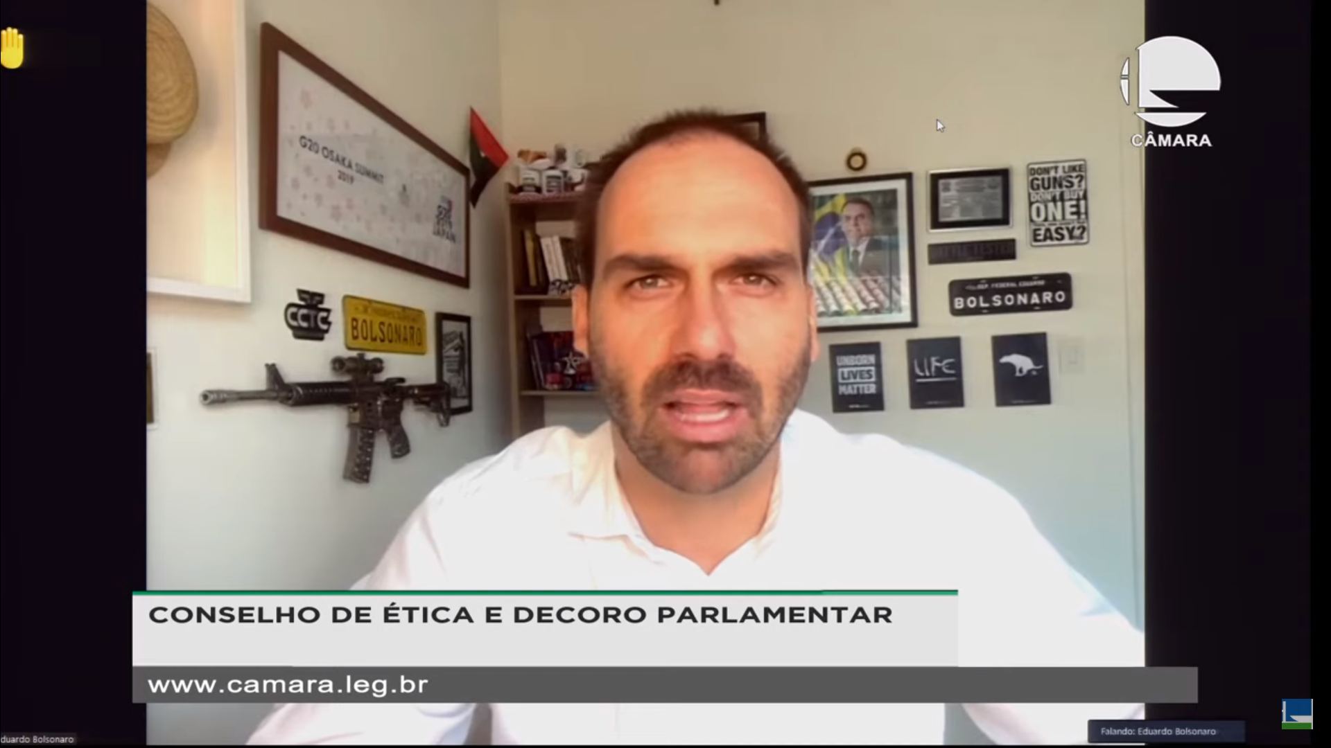 IMAGEM: Conselho de Ética arquiva processo contra Eduardo Bolsonaro por 'novo AI-5'