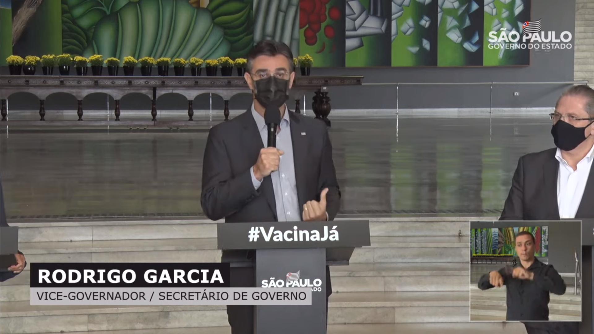 IMAGEM: Vice de Doria critica Ministério da Saúde por requisição de 'kit intubação'