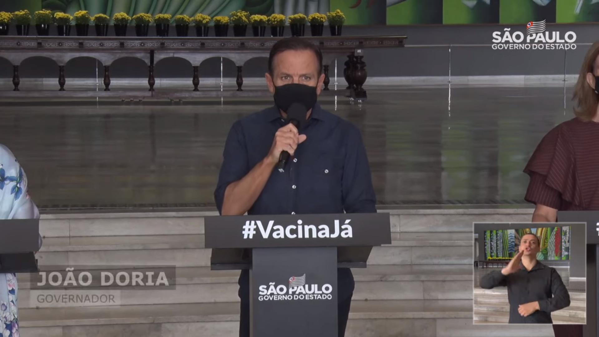 """IMAGEM: Doria chama de """"gravíssimo erro"""" requisição do Ministério da Saúde de insumos do 'kit intubação'"""