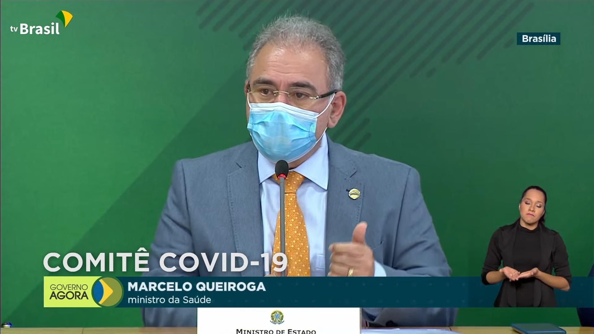 IMAGEM: Após 13 meses de pandemia, Queiroga promete lançar programa de testagem de Covid