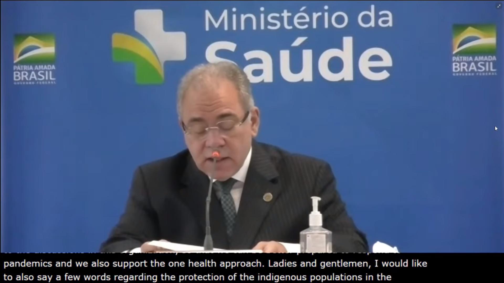 IMAGEM: Em discurso à OMS, Queiroga destaca vacinação de indígenas
