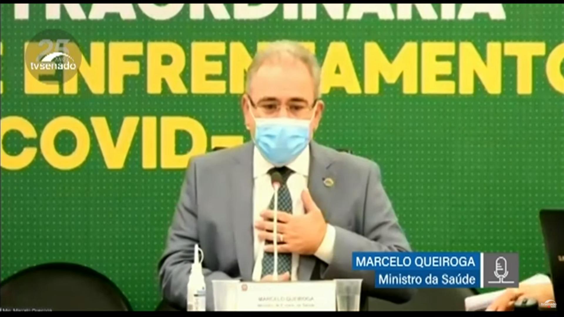 IMAGEM: Queiroga diz que será 'obediente', caso Senado também aprove vacinação privada