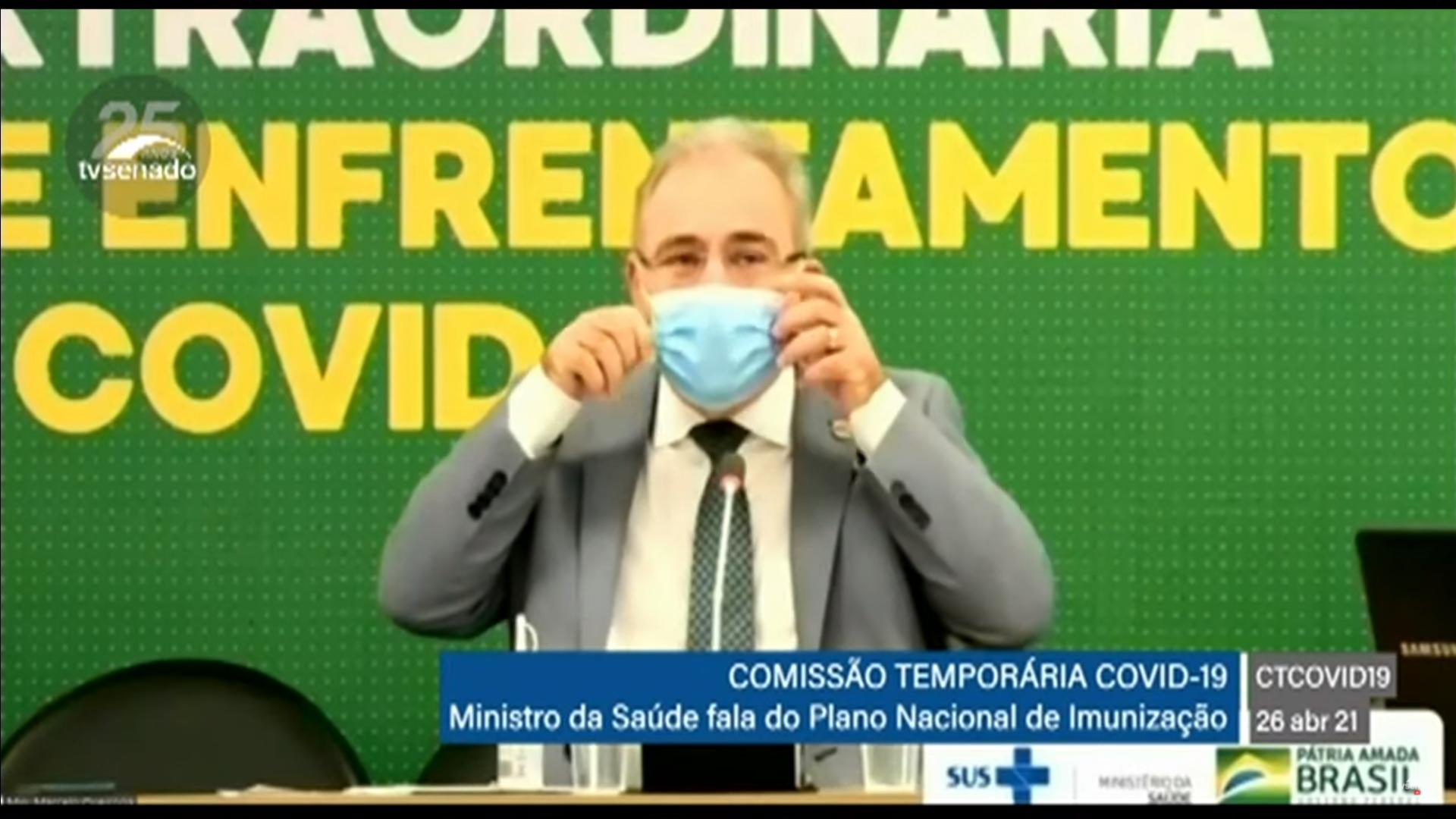 IMAGEM: Após reduzir metas de vacinação, Queiroga diz que não reduziu metas de vacinação