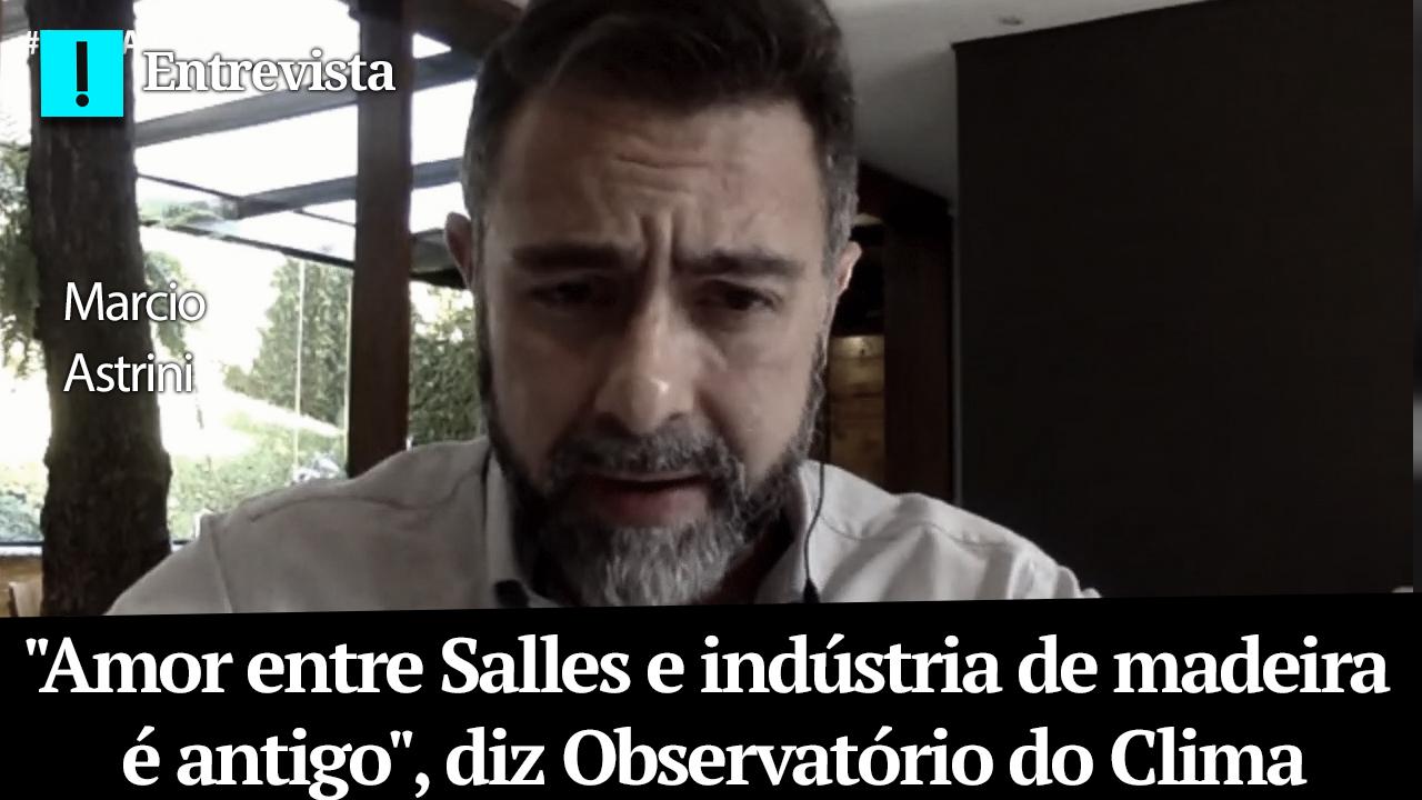 """IMAGEM: """"Amor entre Salles e indústria de madeira é antigo"""", diz Observatório do Clima"""