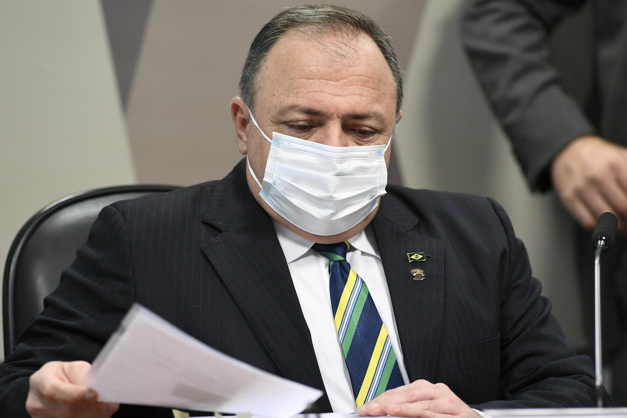 IMAGEM: Pazuello desmente CEO da Pfizer e Wajngarten e diz que deu respostas à empresa; Aziz propõe acareação
