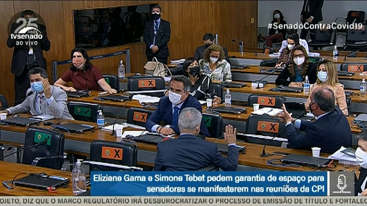 IMAGEM: CPI da Covid vira palco de bate-boca sobre embates de gênero; sessão é suspensa