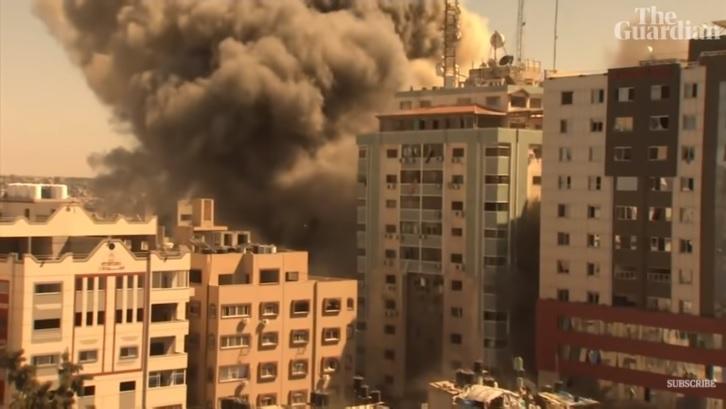 IMAGEM: Hamas usava prédio de jornalistas destruído em Gaza, diz porta-voz do Exército de Israel