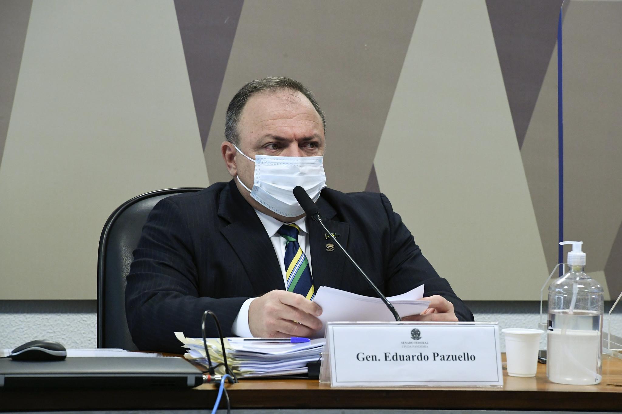 IMAGEM: 'Bolsonaro nunca foi contra minhas ações como ministro', diz Pazuello