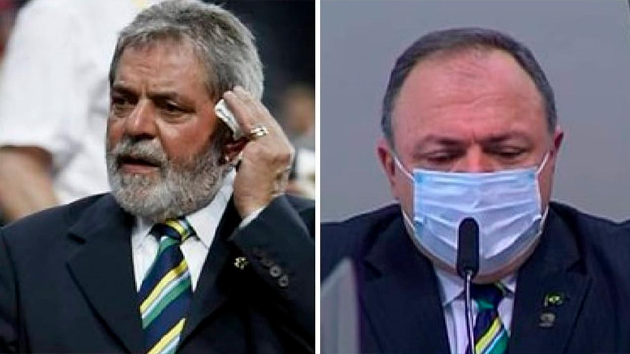IMAGEM: Pazuello com gravata de Lula
