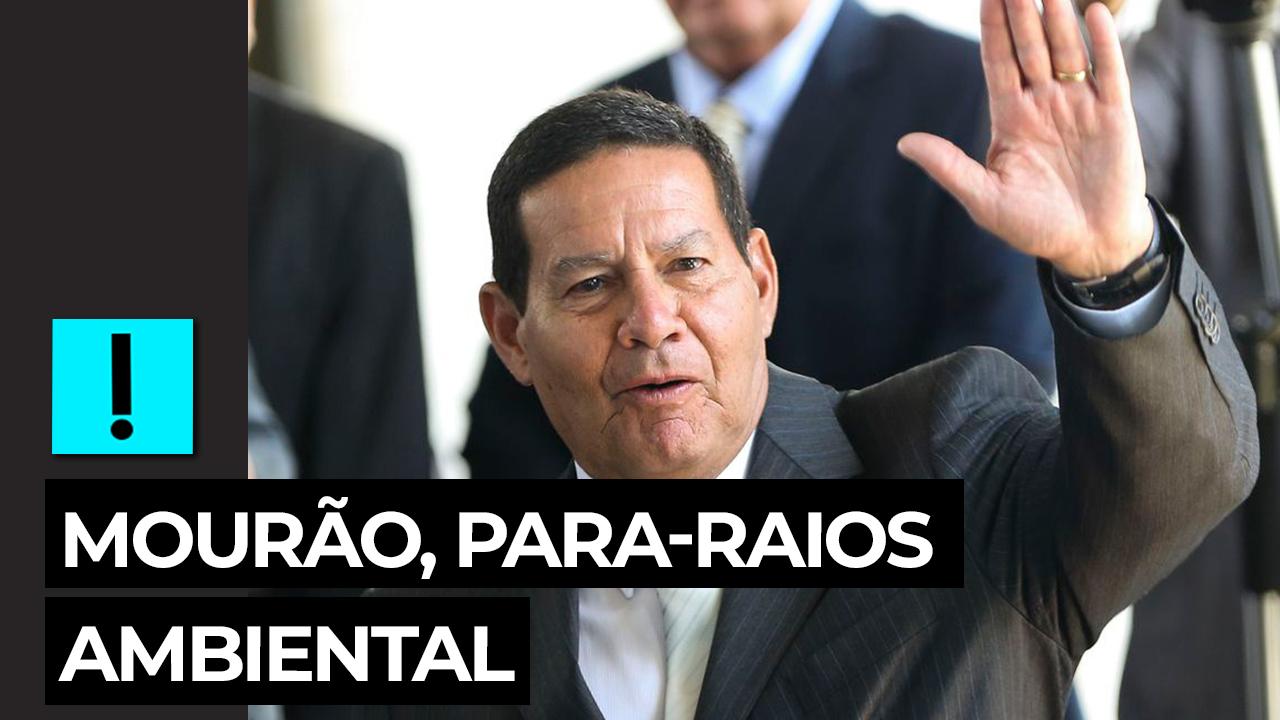 IMAGEM: Mourão segue como para-raios do governo na área ambiental