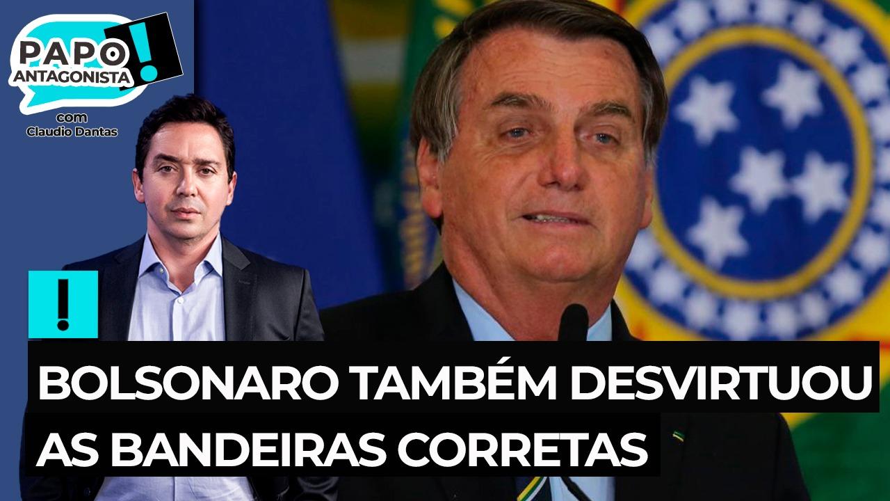 IMAGEM: Bolsonaro também desvirtuou as bandeiras corretas